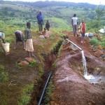 22.4. Arrivée d'eau à l'emplacement de la BF2 réseau Nyabuhongo-Nyarubuye-1